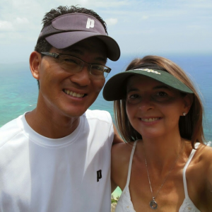 author bio - Heather Murata with husband, Albert